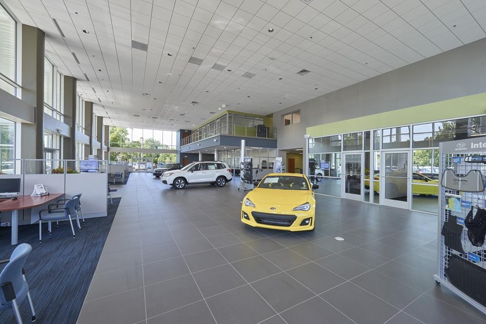 LCM Subaru interior showroom