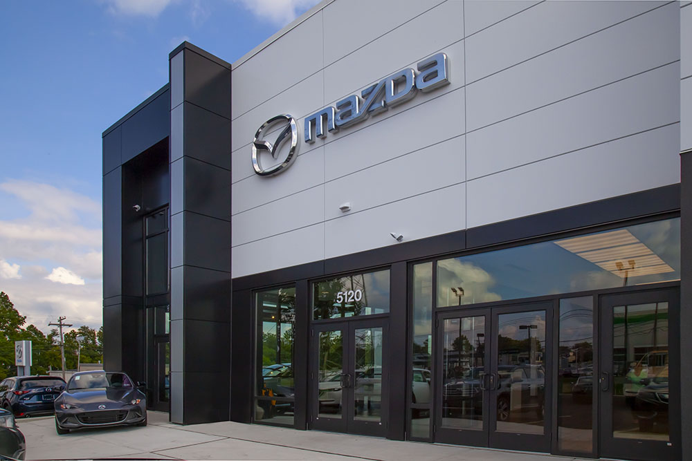 Mazda dealership front