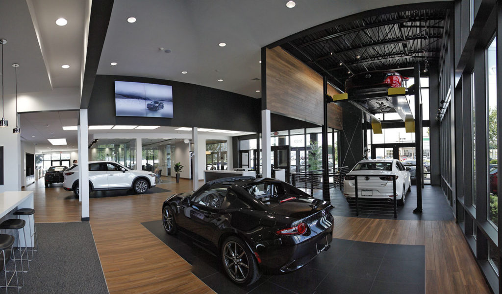 interior of Maxda dealership